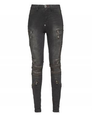"Philipp Plein Women's Jegging Jeans ""IMPRESSIVE"" Zipped"