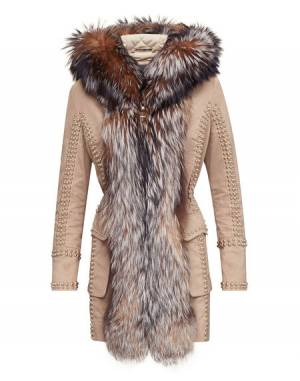 "Philipp Plein Women Coat ""WORK IT OUT"" Parka"