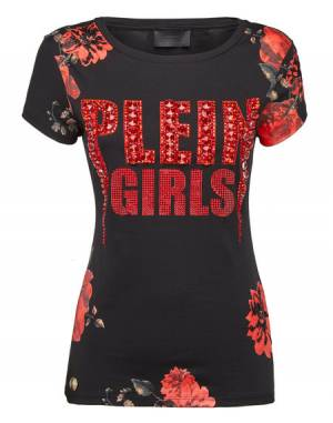 "Philipp Plein Women's T-Shirt ""AMERICAN"" Top"