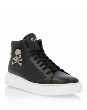 "Philipp Plein Men's Sneakers ""BILL"" Skull Hi-Tops"