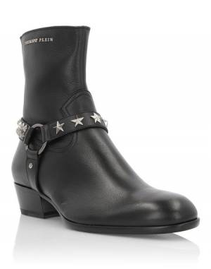 "Philipp Plein Men's Boots ""TOM"" Studs"