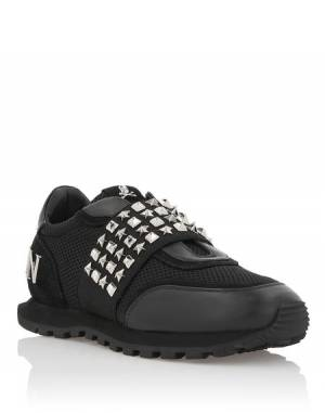 "Philipp Plein Women's Sneakers ""STUDS"" Black Runner"