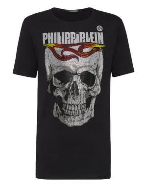 "Philipp Plein T-Shirt ""FLAME SKULL"""