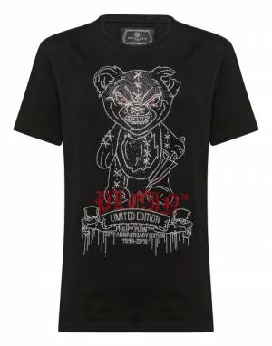 "Philipp Plein Men's T-Shirt ""MAD TEDDY"""