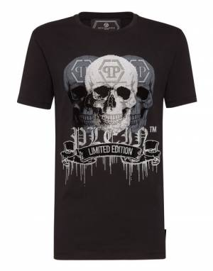 "Philipp Plein Men's T-Shirt ""PLATINUM SKULLS"""