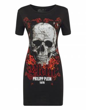 "Philipp Plein Tee Dress ""SKULL 1978"""