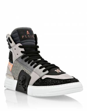"Philipp Plein Sneakers ""GRAY PHANTOM KICK$"""