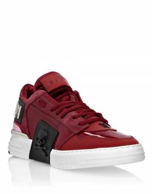 "Philipp Plein Women's Sneakers ""RED PHANTOM KICK$"""