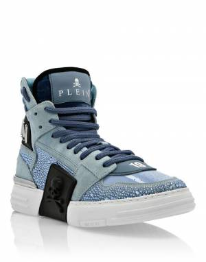 "Philipp Plein Sneakers ""BLUE PHANTOM KICK$"""
