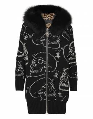 """Philipp Plein Women's Knit Jacket """"Skull Strass"""""""