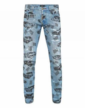 "Philipp Plein Men's Jeans ""FAST CAR"""