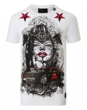 "Philipp Plein ""BLUE EYES"" Graphic T-Shirt"