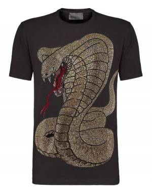 "Philipp Plein ""RICH SNAKE"" Black T-Shirt"