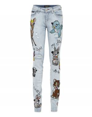 "Philipp Plein Denim ""BEST MISTAKE"" Slim Jeans"