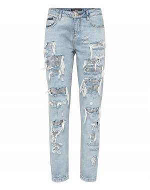 "Philipp Plein Boyfriend Jeans ""CHANDELIER"" Distressed Denim"