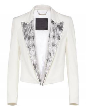 "Philipp Plein ""TURNING INTO SILVER"" Blazer Jacket"