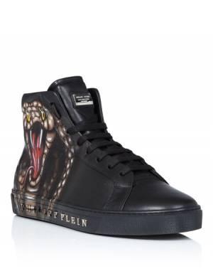"Philipp Plein ""KORO THREE"" Cobra Hi-Top Sneakers"