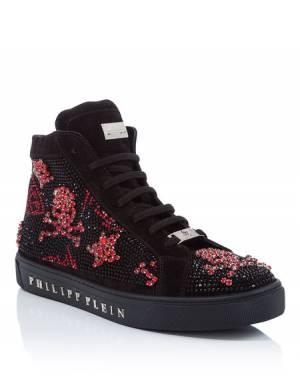 """Philipp Plein Hi-Top Sneakers """"THE SHOCK OF THE LIGHTNING"""" Skulls"""