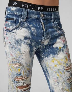 "Philipp Plein Men's Jeans ""PAINTER"""