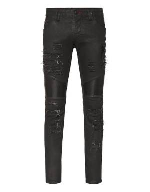 "Philipp Plein Men's Jeans ""BIKER ZIPPED"""