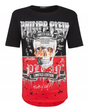"Philipp Plein T-Shirt ""ROCK PP"" Skull Men's Tops"