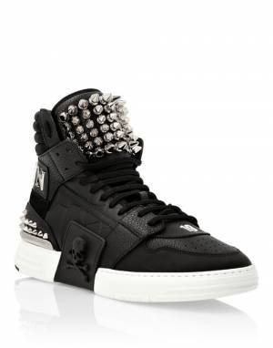 "Philipp Plein Men's Sneakers ""Phantom Kick$ Studs High-Tops"""