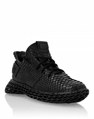 "Philipp Plein Men's Sneakers ""Black Viper"""