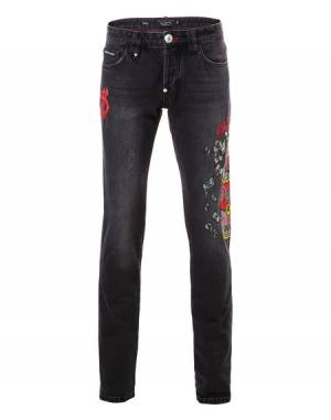 "Philipp Plein Jeans ""SOUP OF MONEY"" Men's Denim"