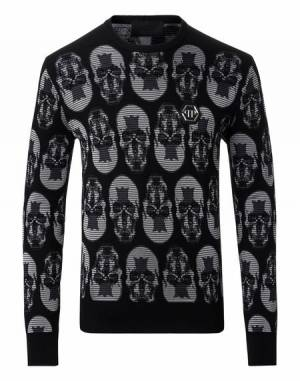 "Philipp Plein Men Knitwear ""SEE YOU"" Pullover Sweater"