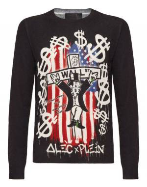 "Philipp Plein Men's Pullover ""AM5"" Knitwear"