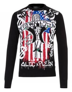 "Philipp Plein Men ""FULL LIFE"" Alec x Plein Knit Pullover"