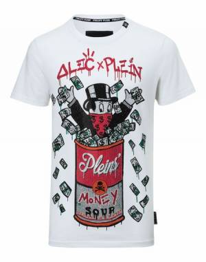 "Philipp Plein Men ""MONOPOLI FIVE"" Alec x Plein T-Shirt"