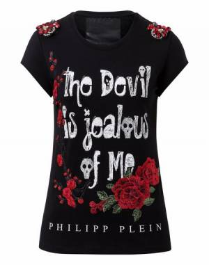 "Philipp Plein ""JEALOUS OF ME"" Black T-Shirt"