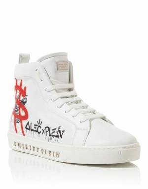 "Philipp Plein Men ""ALEC ONE"" Hi-Top Sneakers"