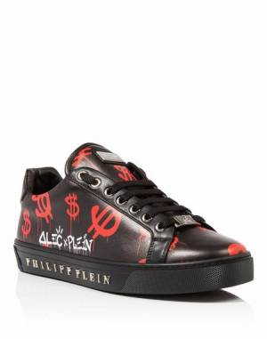 "Philipp Plein Men ""ALEC FIVE"" Low Top Sneakers"