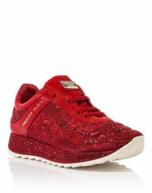 "Philipp Plein Women ""TO CLOSE"" Runner Sneakers"