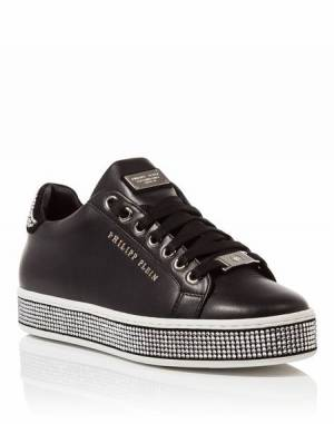 "Philipp Plein Women ""JUMP ON IT"" Lo-Top Sneakers"