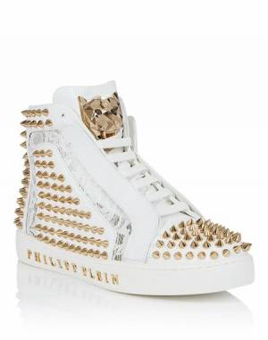 "Philipp Plein Women ""EVERYBODY ON THE FLOOR"" Hi-Top Sneakers"