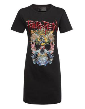 "Philipp Plein Mini Dress ""SKULL T."""
