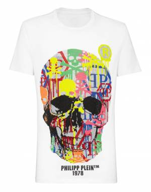 "Philipp Plein Men's T-Shirt ""SKULL STRASS"""