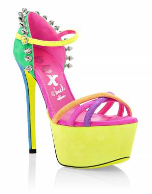 "Philipp Plein Women's Sandals ""COLORFULL PLATFORMS"""
