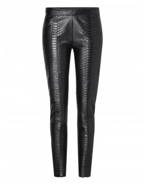 "Philipp Plein Women  ""Animal"" Leather Leggings Pant"