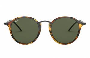 Ray-Ban Round Fleck Black, Green Lenses - RB2447