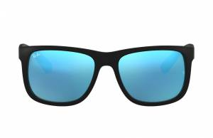 Ray-Ban Justin Color Mix Low Bridge Fit Black, Blue Lenses - RB4165F