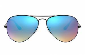 Ray-Ban Aviator Flash Lenses Gradient Black, Blue Lenses - RB3025