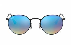 Ray-Ban Round Flash Lenses Gradient Black, Blue Lenses - RB3447