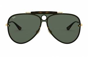 Ray-Ban Blaze Shooter Gold, Green Lenses - RB3581N