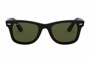 Ray-Ban Wayfarer Ease Black, Polarized Green Lenses - RB4340