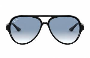 Ray-Ban Cats 5000 Classic Black, Blue Lenses - RB4125
