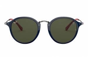 Ray-Ban Rb2447nm Scuderia Ferrari Collection Gunmetal, Green Lenses - RB2447NM